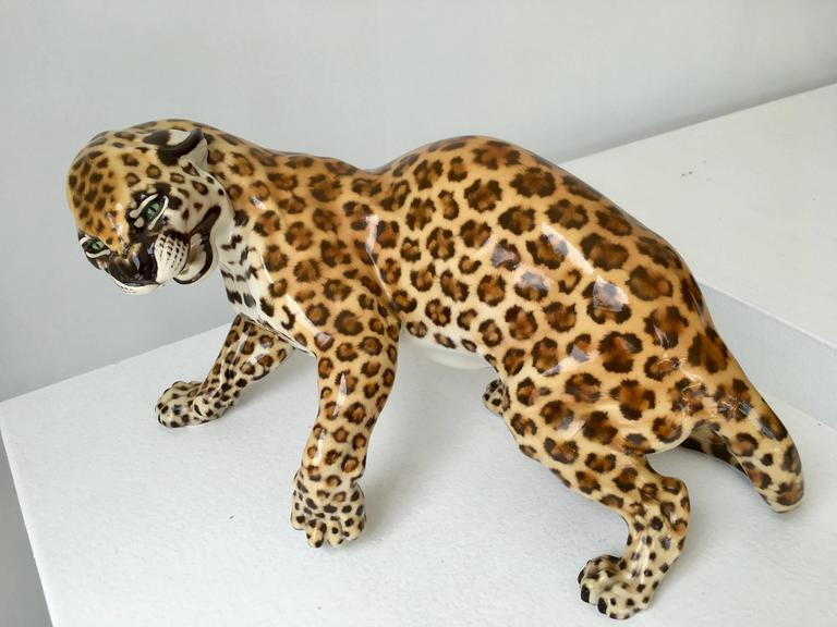 Nymphenburg Porcelain Hans Behrens Zola Leopard Figure Art Nouveau For Sale 2