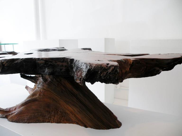 Mid-20th Century American Craft Organic Live Edge Free-Form Coffee Cocktail Table For Sale