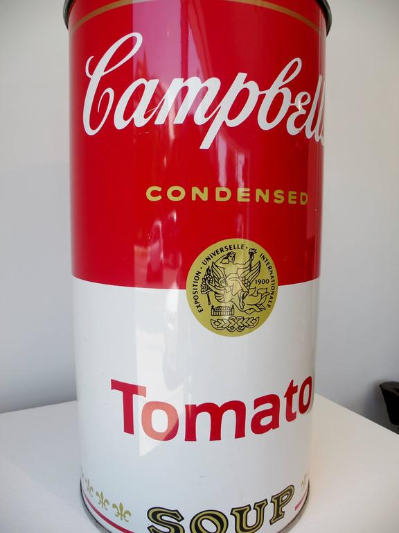 Mid Century Campbell S Tomato Soup Umbrella Stand Waste Can After
