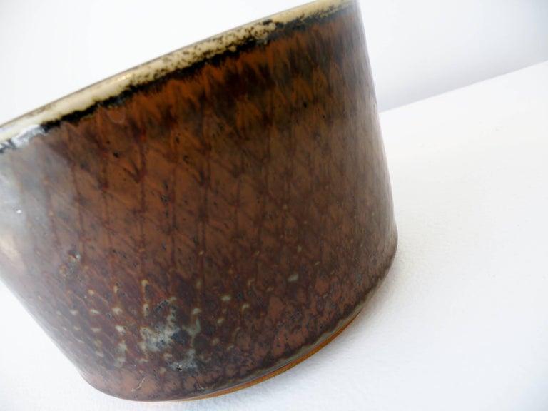 Swedish Signed Carl Harry Stalhane Rörstrand Scandinavian Pottery Bowl, Midcentury For Sale