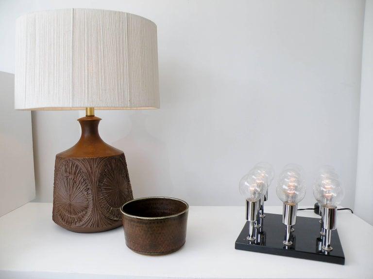 1960s Pop Art Italian Granite Chrome Sculptural Cluster Bulbs Table Lamp 7