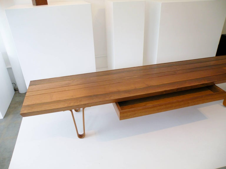 1958 Edward Wormley Dunbar Model 4699 Long John Bench Coffee Table with Drawer 5
