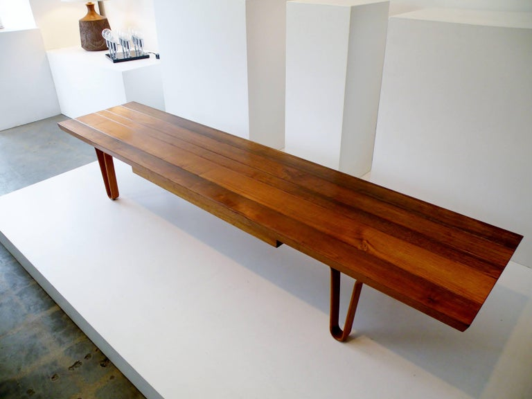 1958 Edward Wormley Dunbar Model 4699 Long John Bench Coffee Table with Drawer 2