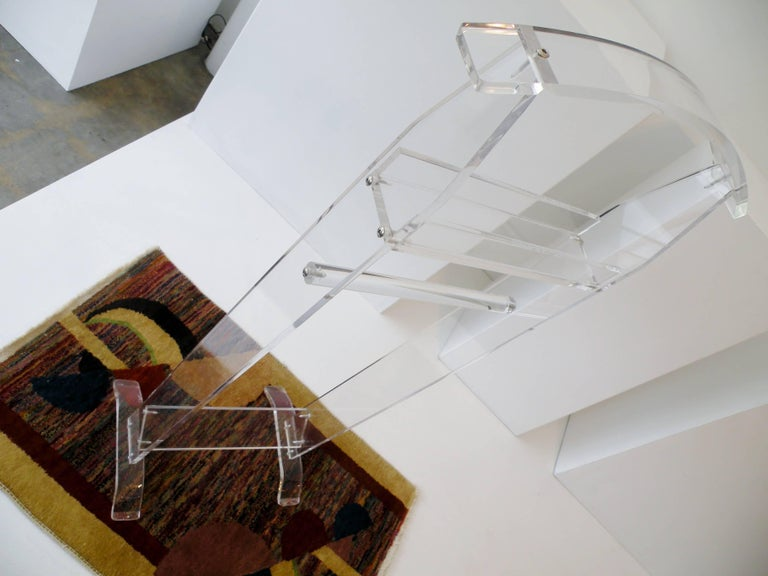Modern 1970s Acrylic Lucite Valet Stand 4