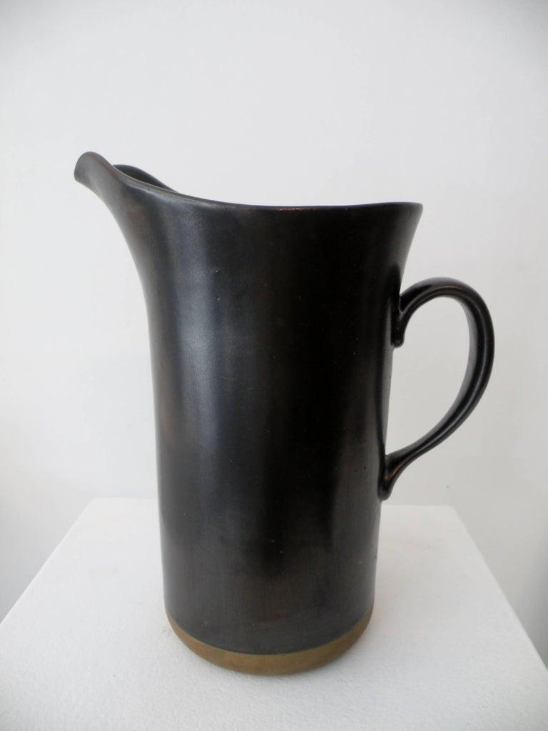 Glazed Early Gordon & Jane Martz Marshall Studios Large Pottery Pitcher For Sale