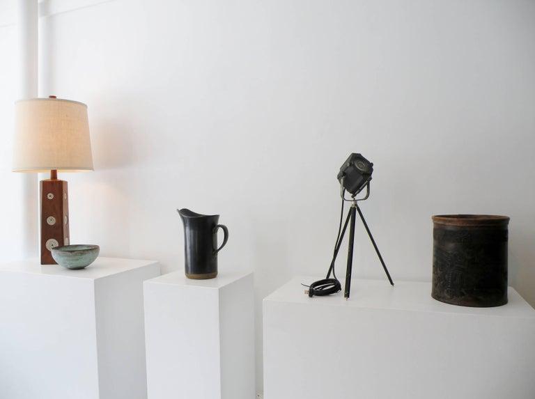 Industrial Kleigl Theater Spotlight Table Lamp Streamline, Midcentury For Sale 3