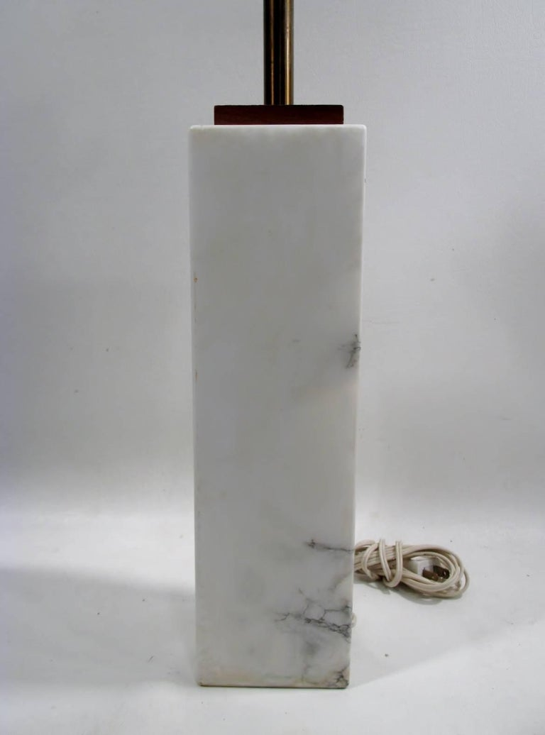 T.H. Robsjohn-Gibbings for George Hanson Travertine Marble Table Lamp 4