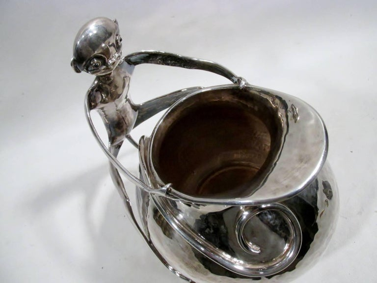 Emilia Castillo Taxco Silver Monkey Handled Water Pitcher 5
