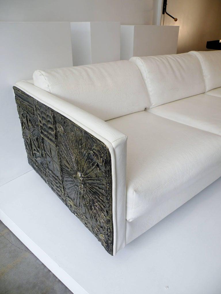 Adrian Pearsall Brutalist Club Tuxedo Sofa Craft Associates 4