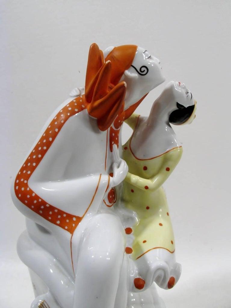 Art Deco Pierrot & Columbine Figurine Heinz Schaubach, Fraureuth Wallendorf 5