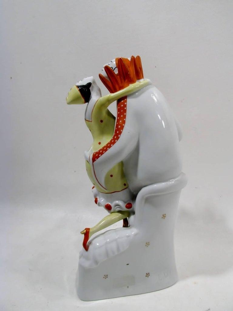 Art Deco Pierrot & Columbine Figurine Heinz Schaubach, Fraureuth Wallendorf 6