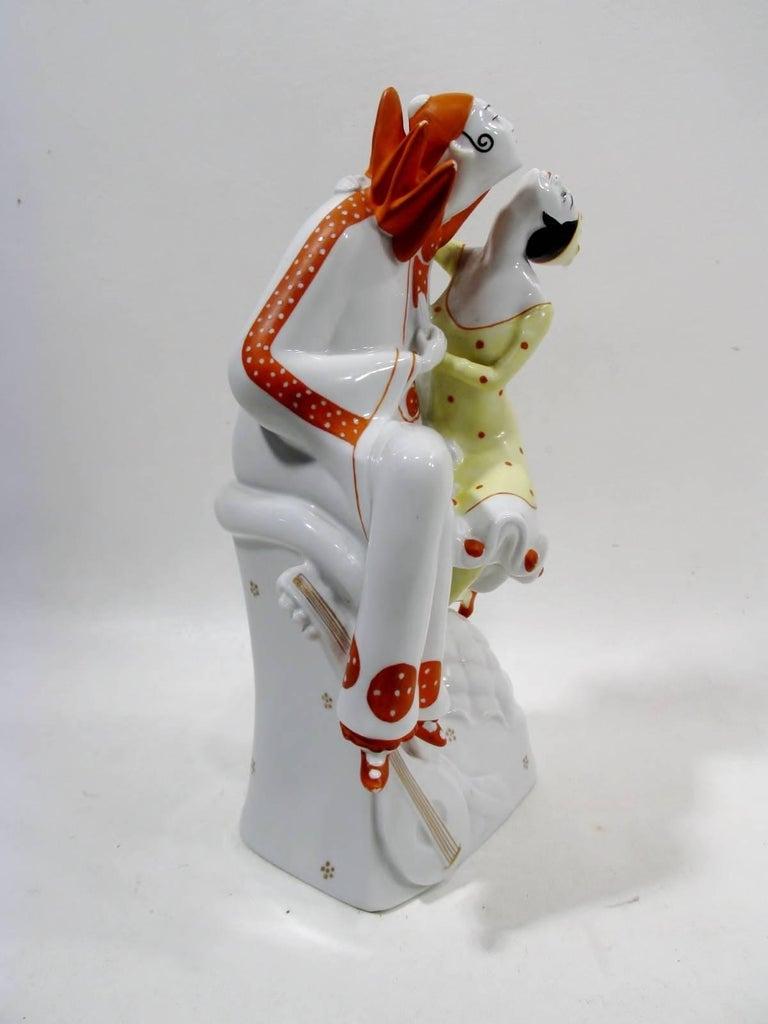 Art Deco Pierrot & Columbine Figurine Heinz Schaubach, Fraureuth Wallendorf 4
