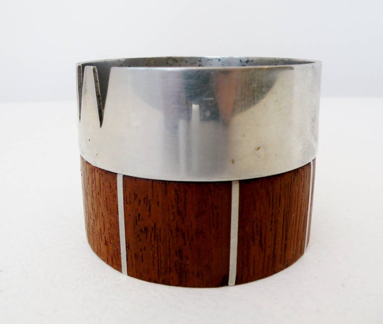 Paul Evans Phillip Lloyd Powell Stainless Steel Walnut Ash Receiver 2