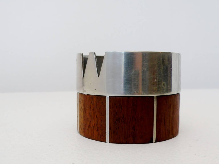 Paul Evans Phillip Lloyd Powell Stainless Steel Walnut Ash Receiver 3