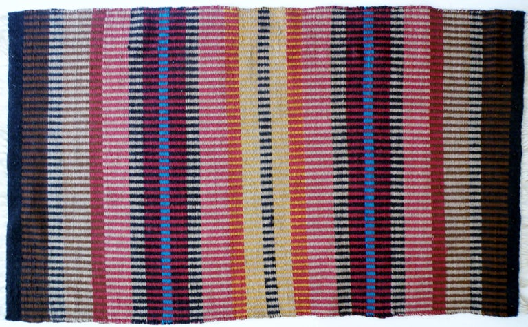California Craft Linear Abstract Woven Textile Bauhaus Inspired Rug 2