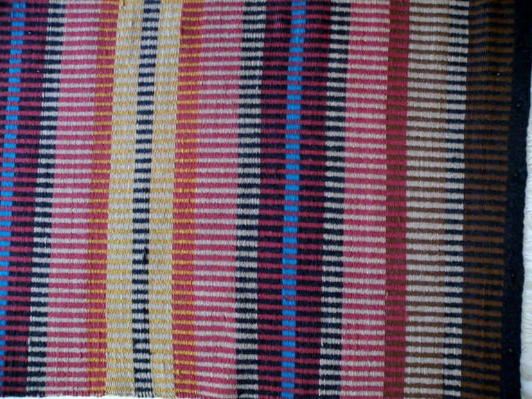 California Craft Linear Abstract Woven Textile Bauhaus Inspired Rug 3