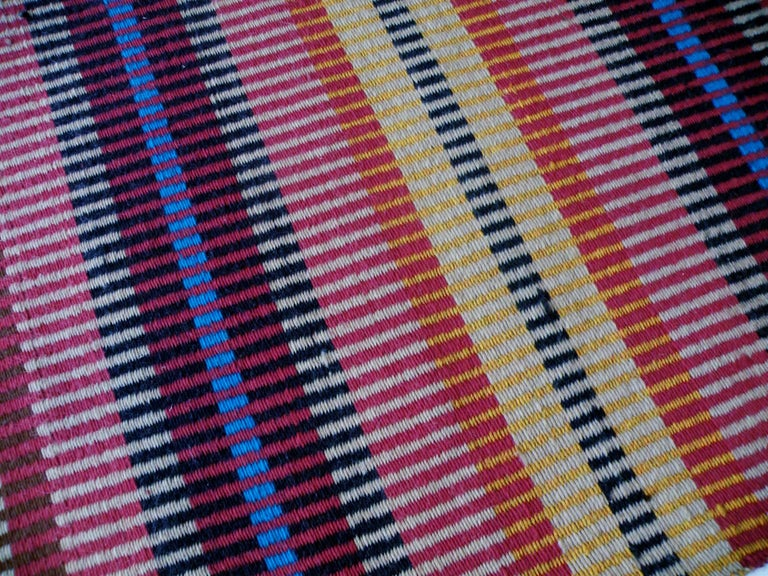 California Craft Linear Abstract Woven Textile Bauhaus Inspired Rug 4