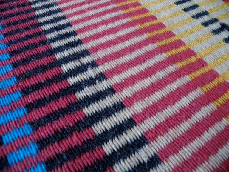 California Craft Linear Abstract Woven Textile Bauhaus Inspired Rug 5