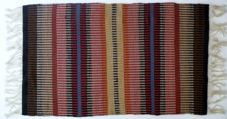 California Craft Linear Abstract Woven Textile Bauhaus Inspired Rug 7