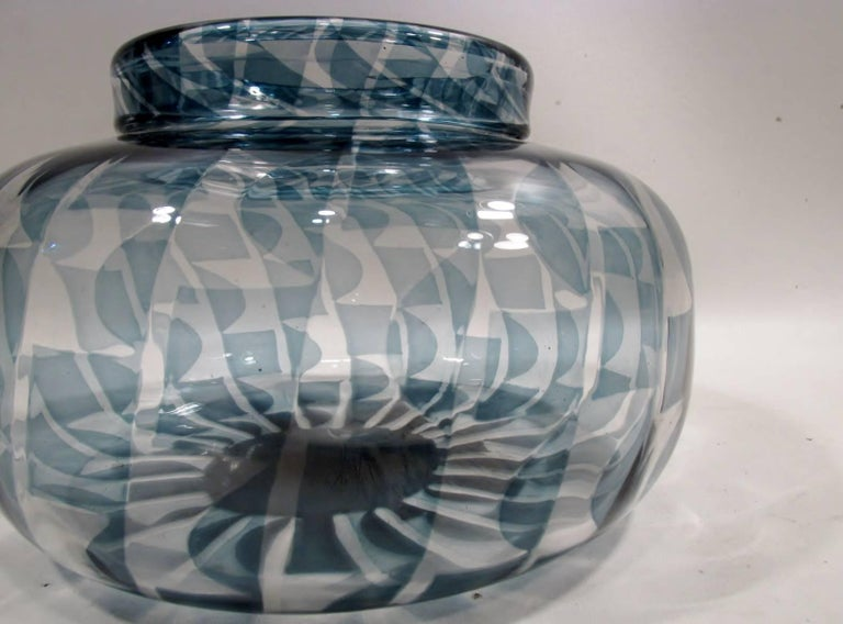 Swedish 1966 Ingaborg Lundin Orrefors Sweden Limited Edition Exposition Vase For Sale