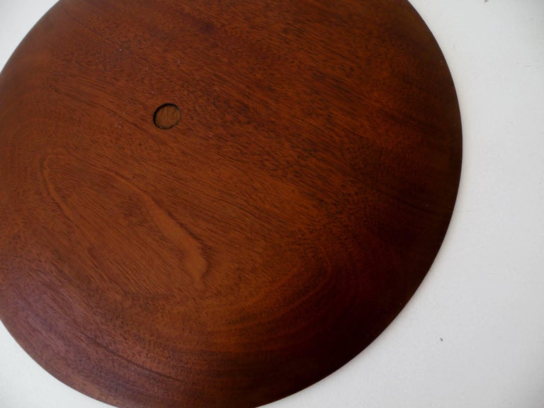 Paul Evans Phillip Lloyd Powell Stainless Steel Walnut Charger For Sale 1