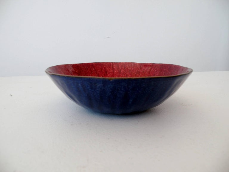 Italian Gio Ponti Paolo DePoli Modernist Enamel Bowl For Sale