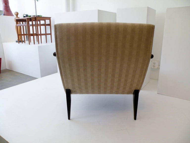 1950s Gio Ponti Style Cantilevered Lounge Chair Made by Singer & Sons For Sale 1