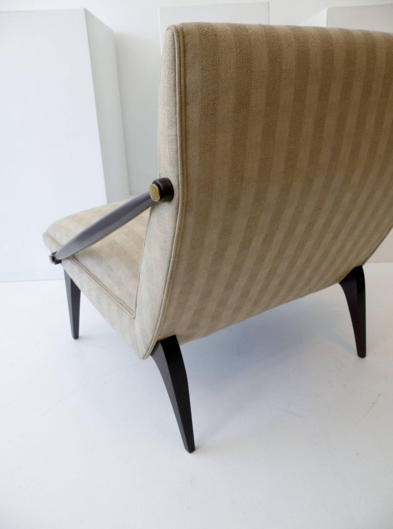 1950s Gio Ponti Style Cantilevered Lounge Chair Made by Singer & Sons For Sale 2
