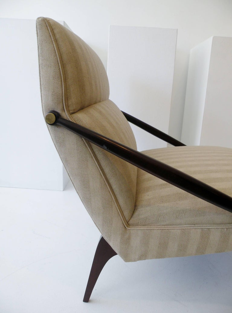20th Century 1950s Gio Ponti Style Cantilevered Lounge Chair Made by Singer & Sons For Sale