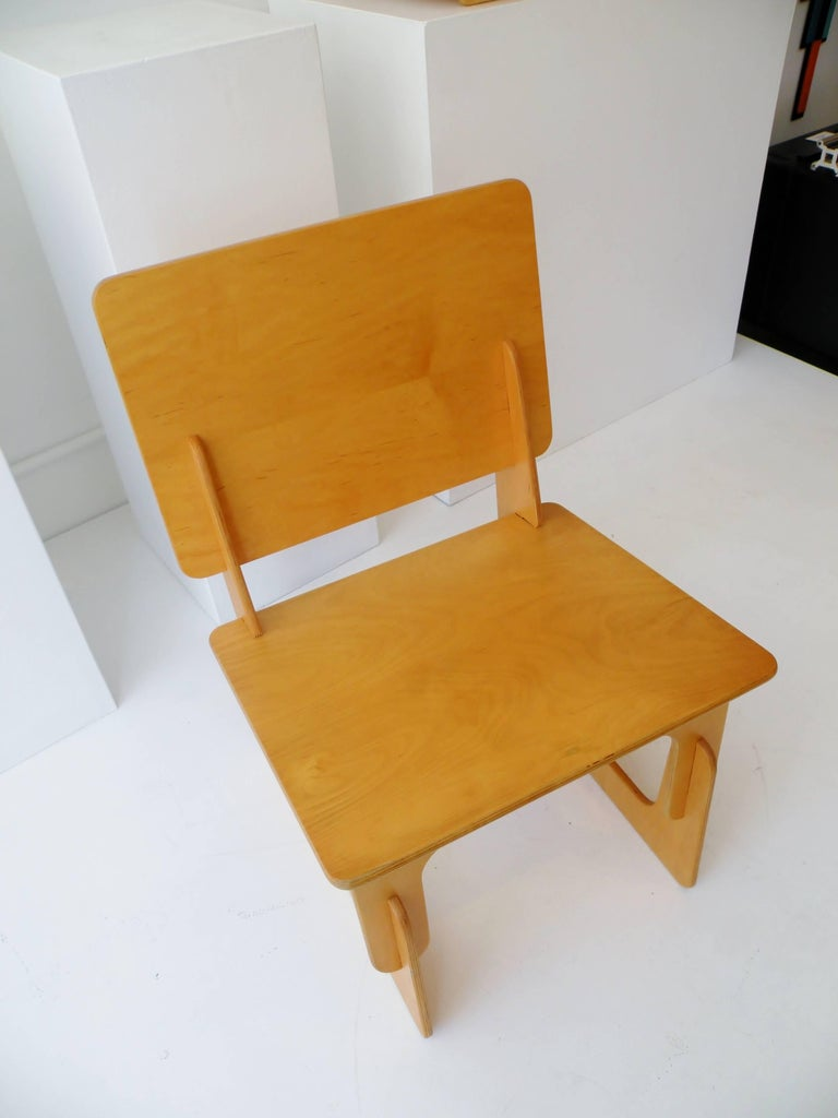 Organic Modern Post War Knockdown Furniture Co Plywood Lounge Chair For Sale
