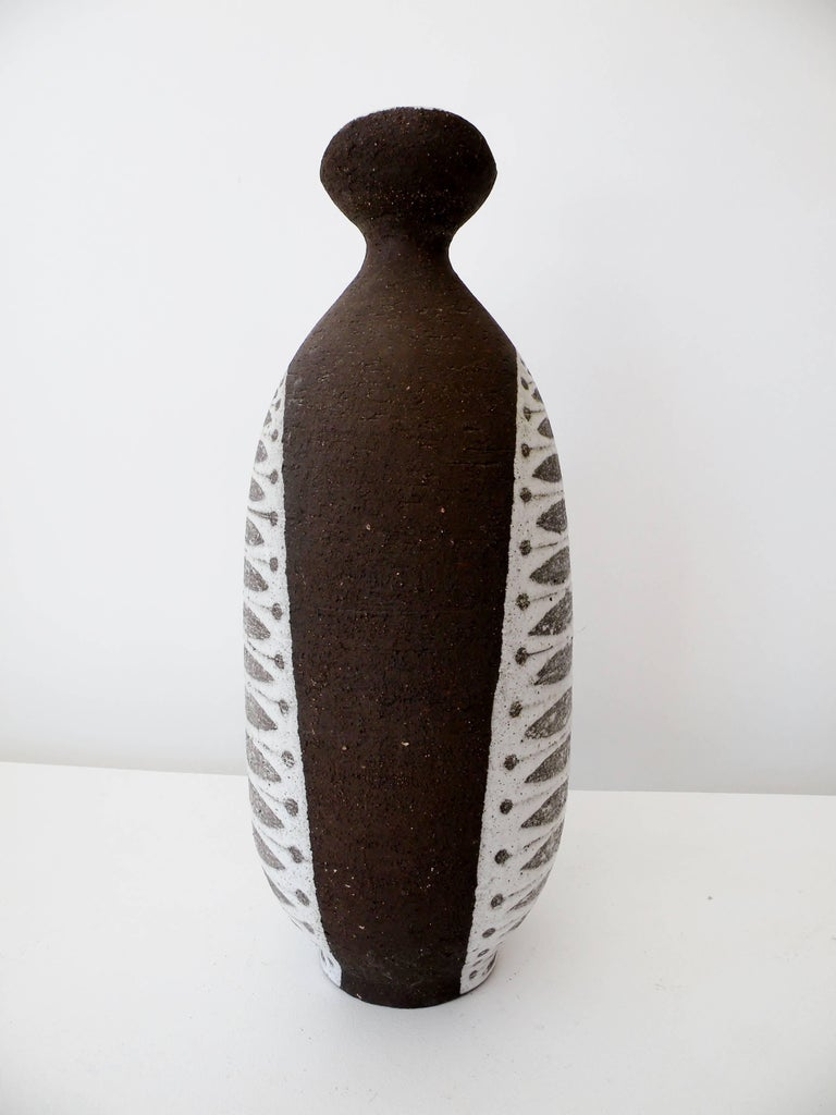Danish 1950s Thomas Toft Denmark Studio Pottery Vase For Sale