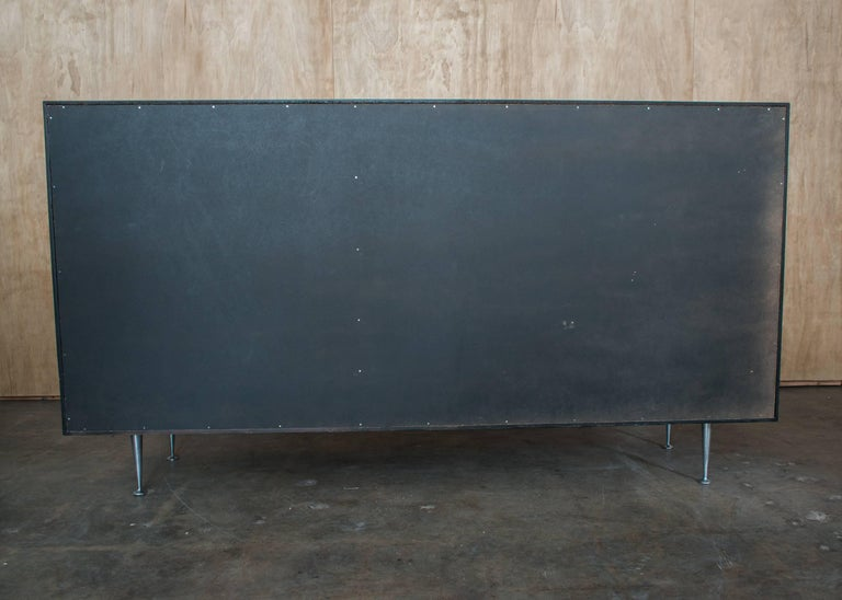 American George Nelson & Assoc. Herman Miller Rosewood Thin Edge Series Credenza Dry Bar For Sale