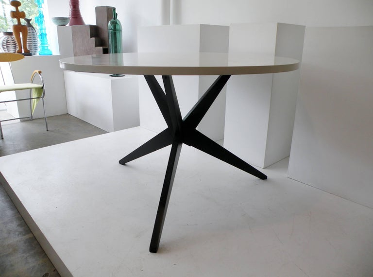 American Early Knoll Hans Bellmann Round Popsicle Dining Table For Sale