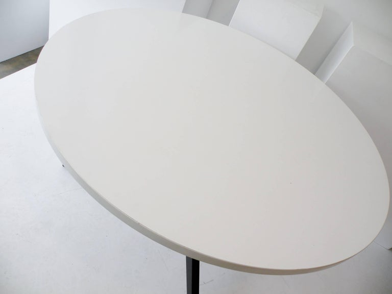 Early Knoll Hans Bellmann Round Popsicle Dining Table In Good Condition For Sale In Denver, CO