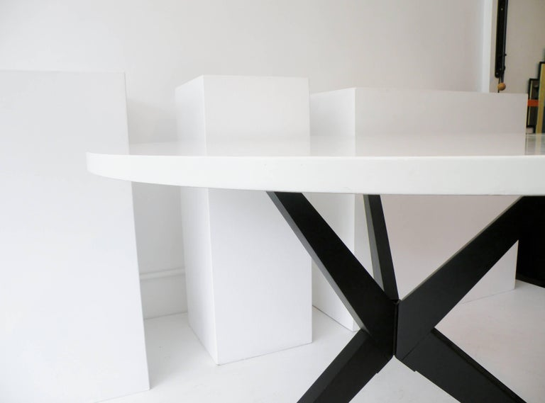 Early Knoll Hans Bellmann Round Popsicle Dining Table For Sale 2