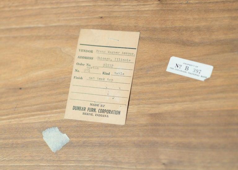 20th Century Dunbar Teak Coffee Table  For Sale