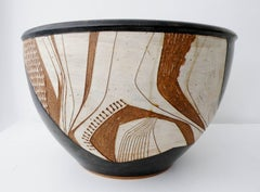 Joel Edwards Abstract California Studio Pottery Large Bowl or Planter