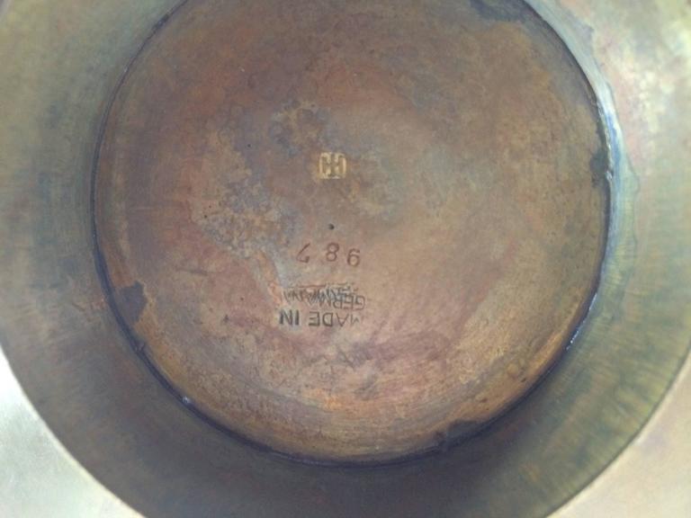 Hammered Hayno Focken Brass Dish