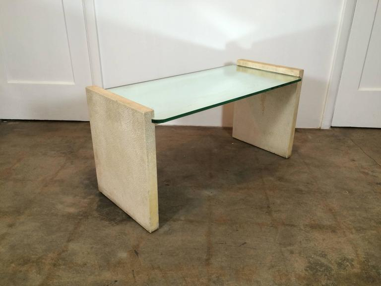 Paul Frankl 1930s Studio Coffee Table with Mirror Top and Crackle Finish 2