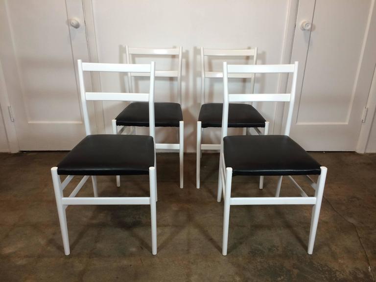 Set of Four Gio Ponti Leggera Chairs by Cassina 2