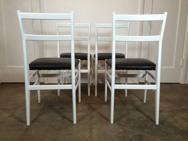 Set of Four Gio Ponti Leggera Chairs by Cassina 3