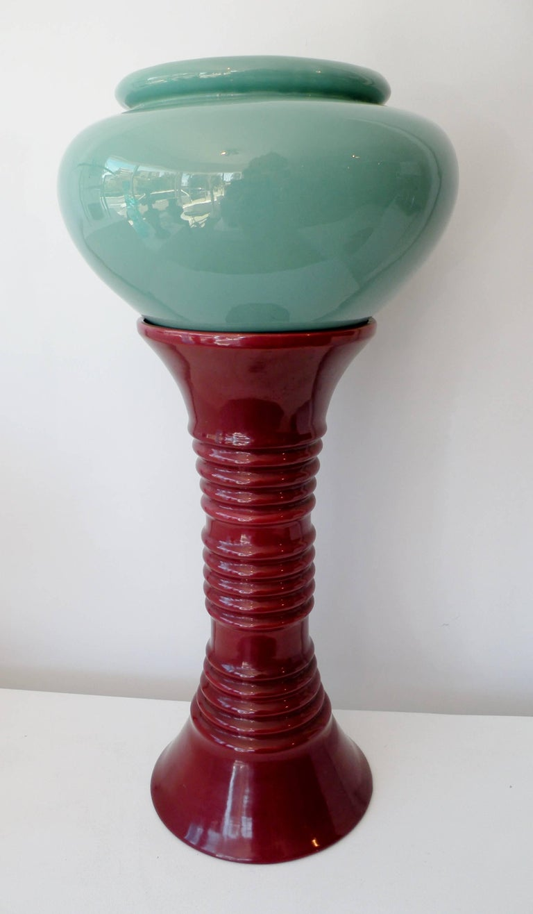 Art Deco California Pacific Pottery Oil Jar and Stand Jardiniere 3