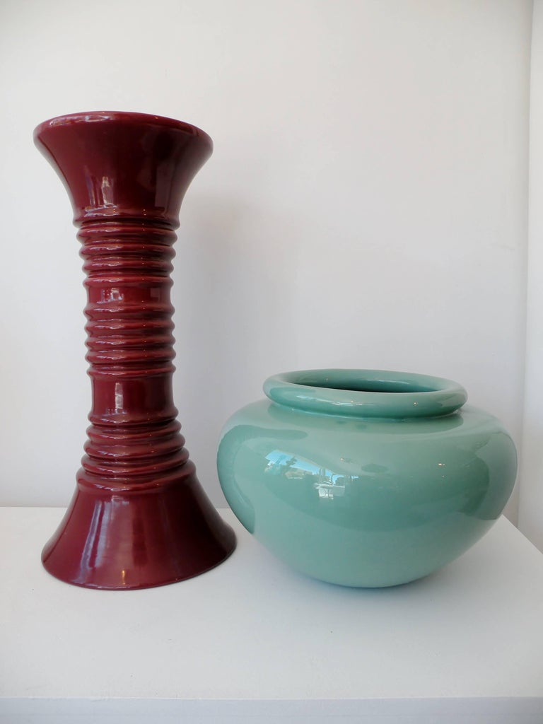 Art Deco California Pacific Pottery Oil Jar and Stand Jardiniere 6