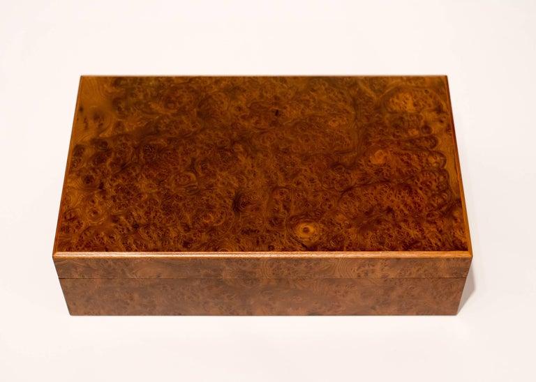 1970s, Italian European Poker Plaques Chip 1275 Piece Set Briar Wood Cases 9