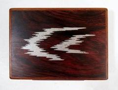 Axel Salomonsen Danish Bog Oak and Abstract Sterling Silver Dresser Box