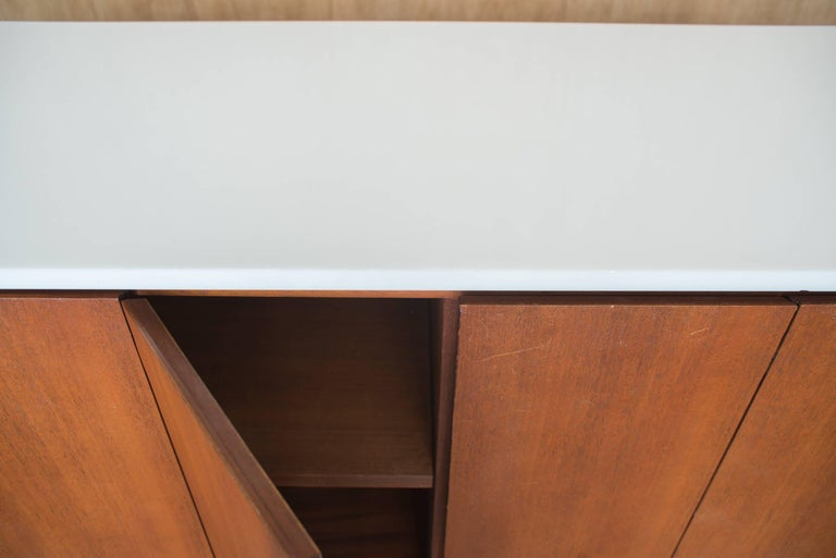 Paul McCobb Irwin Collection Sideboard Credenza Mahogany Marble Calvin Furniture For Sale 4