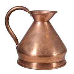 Collection of Copper Pitchers and Copper Tray