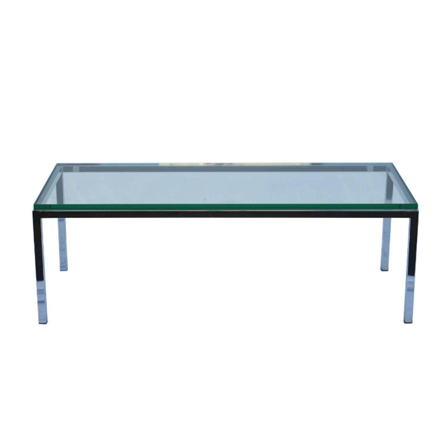 Brueton Stainless Steel And Glass Coffee Table For Sale At 1stdibs