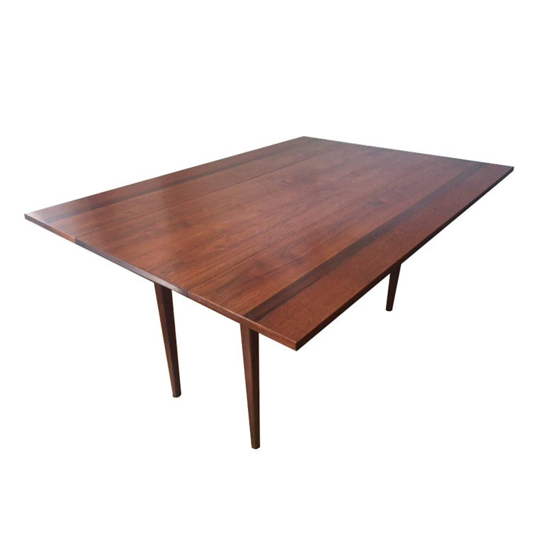 Hibriten Walnut And Rosewood Drop Leaf Dining Table Or