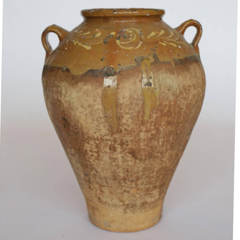 Rustic Early 19th-Early 20th Century Italian Terracotta Olive Jar, circa 1810-1910 For Sale